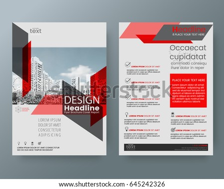 Business Templates Creative Design Abstract Red Stock Vector ...