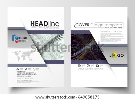 Business Templates Brochure Magazine Flyer Annual Stock Photo Photo