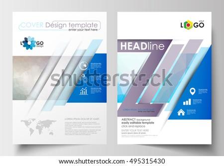 Templates Brochure Magazine Flyer Booklet Cover Stock Vector ...