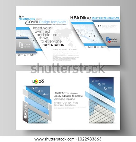 business templates in hd format for presentation slides vector layouts blue color abstract infographic