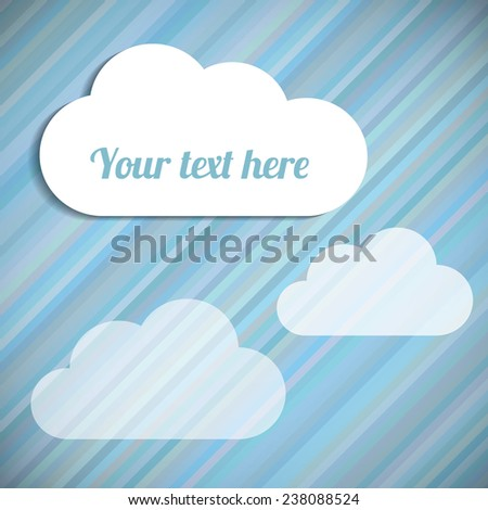 Business texture with clouds