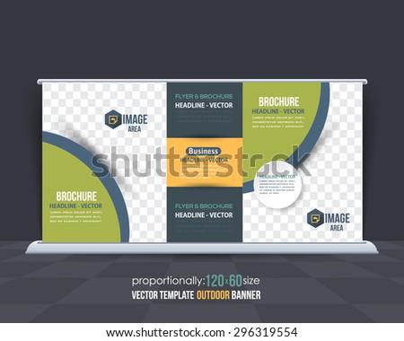 Business Theme Outdoor Banner Design, Advertising Vector Template  - stock vector