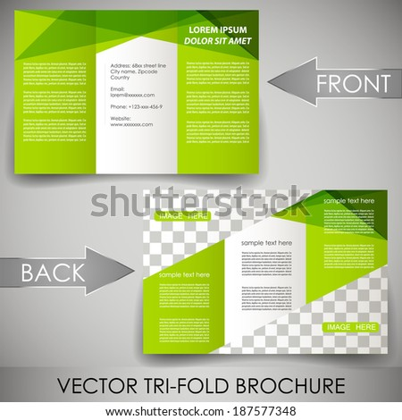 3 fold brochure template - 3 fold leaflet stock images royalty free images vectors