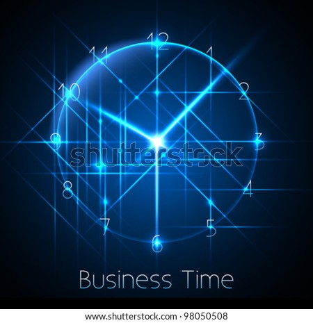 business time - abstract clock background - conceptual vector - stock vector