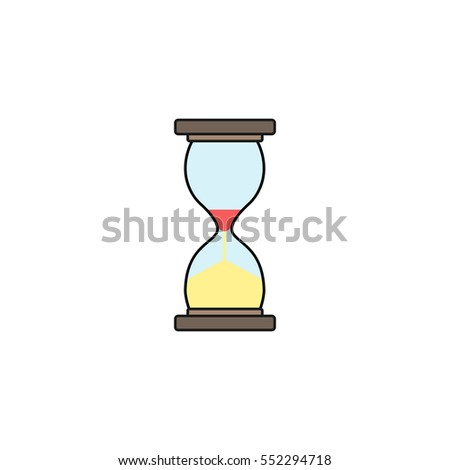 Business time management and deadline solid icon, hourglass and finance clock, vector graphics, a colorful linear pattern on a white background, eps 10.