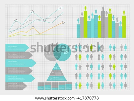 Business timeline element for Infographic. Easy to use for your business projects templates for presentation and training. Simple Editable Graphic infographics elements. Vector illustration. - stock vector
