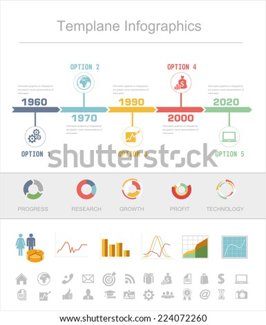 Business Timeline Infographics Vector Design Template Stock Vector
