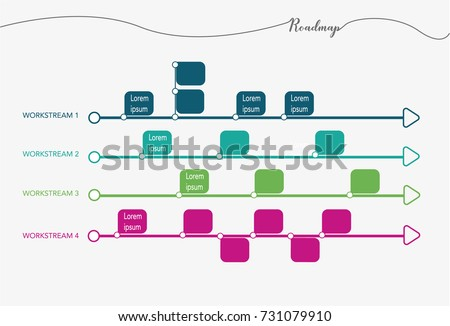Business Timeline Roadmap Template Work Stock Vector - Timeline roadmap template