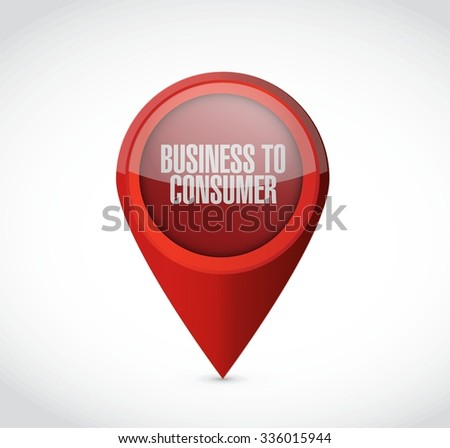 business to consumer pointer sign concept illustration design graphic - stock vector