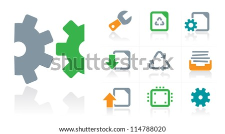 Business Tools Icons - stock vector