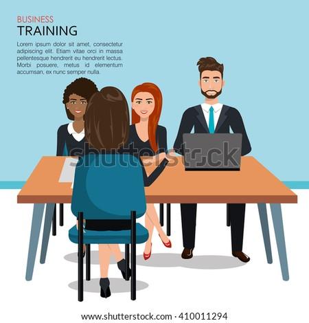 business training design  - stock vector