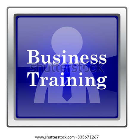 Business training icon. Internet button on white background. EPS10 vector.