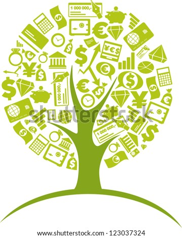 Business - tree 2 - stock vector