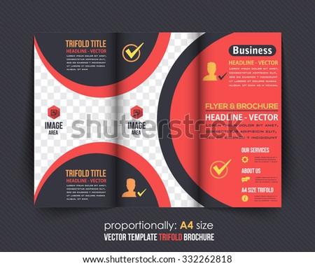 Business Tri-fold Brochure, Catalog Vector Design - stock vector