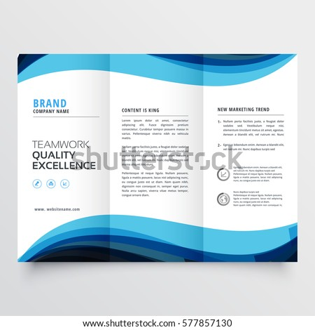Business Trifold Brochure Design Template Stock Vector Hd Royalty