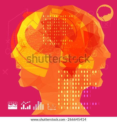 Business - Two Mind Approach - stock vector