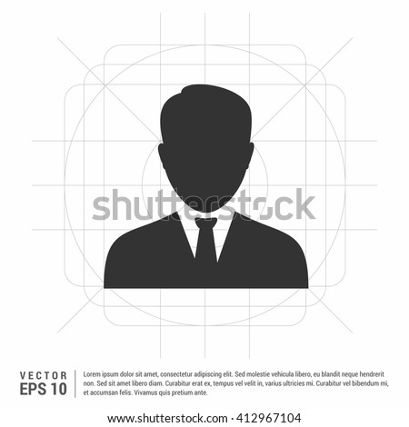 Business User Icon. Users Group Icon. Male user icon. user icon - stock vector