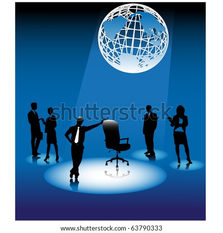 Business vacant.Vector - stock vector
