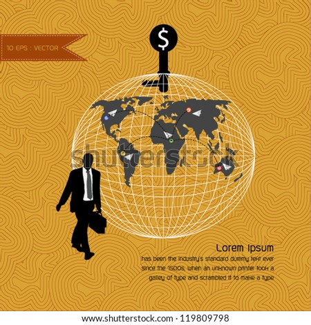 Business vector background - stock vector