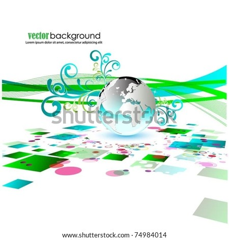 business vector background with globe