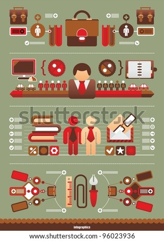 Business Vector infographics - stock vector