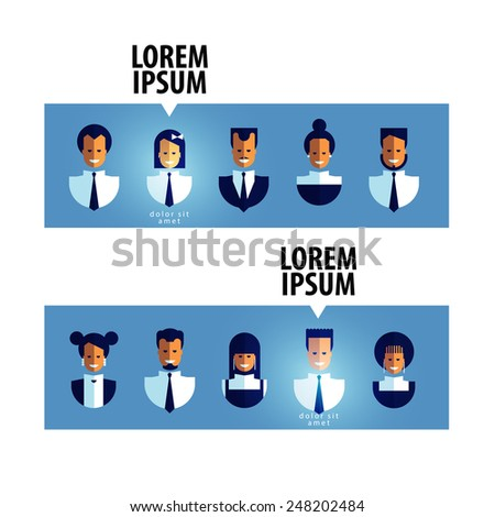 business vector logo design template. business people or  best employee icon. - stock vector