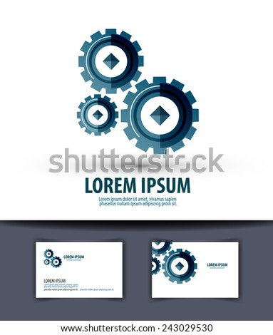 Business vector logo design template. Gear or work icon. - stock vector
