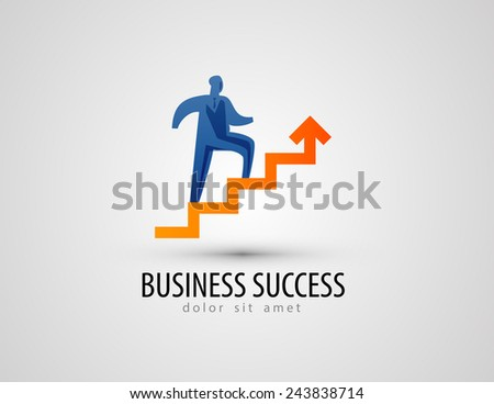 business vector logo design template. success or progress icon. - stock vector
