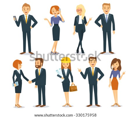 business vector people - stock vector