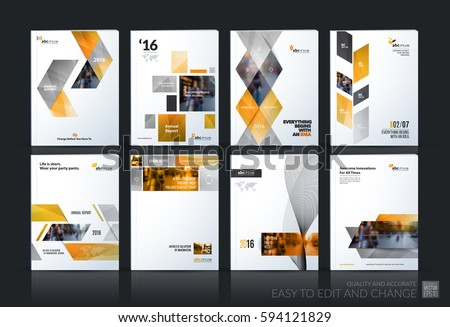 Business Vector Set Brochure Template Layout Stock Photo Photo