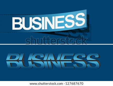 Business vector sticker & label for text design. - stock vector