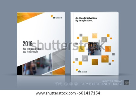 Modern Design Magazine cover design annual reportvector template brochures stock vector