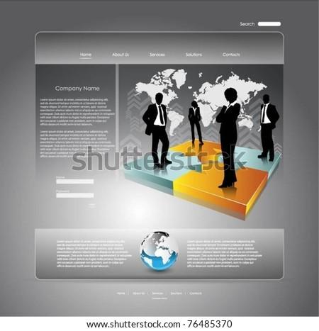 business vector web template - stock vector