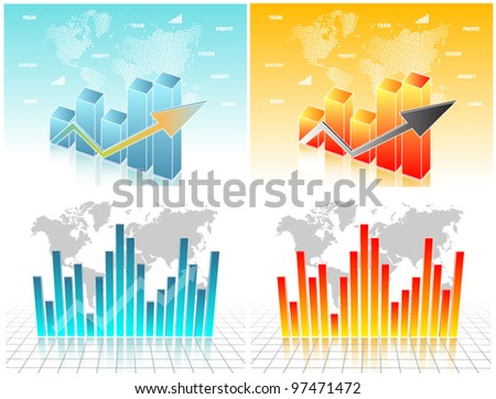 Business visit card, buy one get four - stock vector