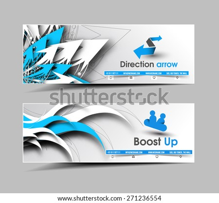 Business Web Banner & Header Layout Template. - stock vector