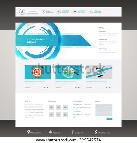 Business website design template. Vector Design.  - stock vector