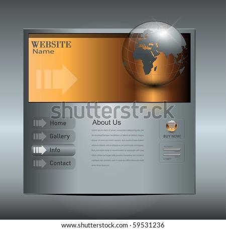 Business website template, editable vector. - stock vector