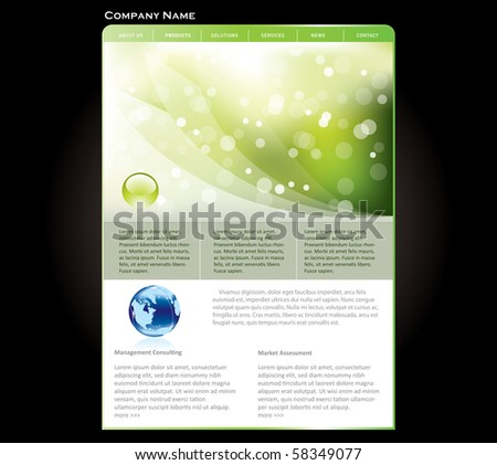 Business website template in editable vector format - stock vector