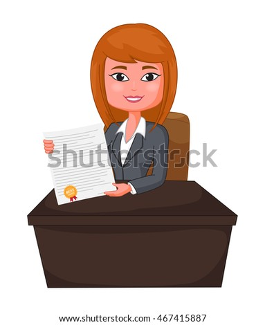 Business Woman Agent Giving a Presentation to costumer