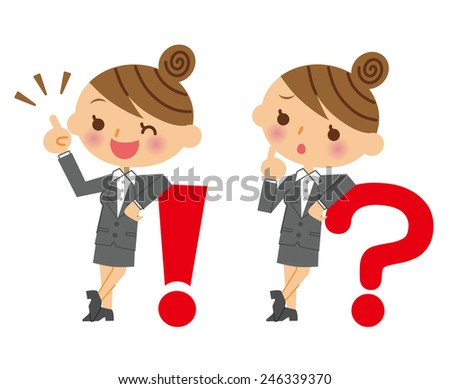 Business Woman expression - stock vector