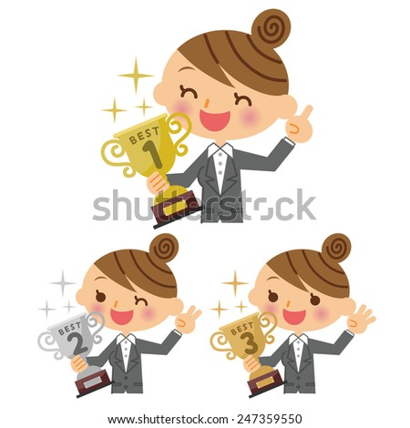 Business Woman ranking - stock vector