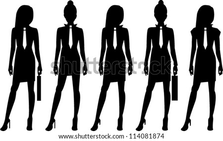 Business woman silhouette - stock vector