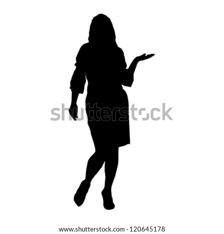 Business woman silhouettes.Vector - stock vector