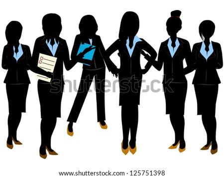 business woman team - stock vector