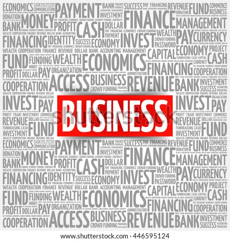 BUSINESS word cloud collage, business concept background - stock vector