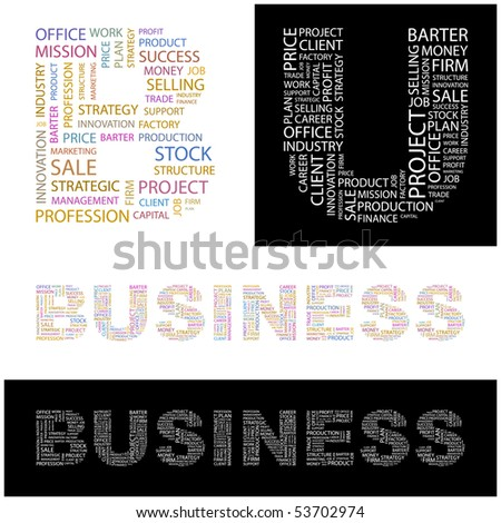 BUSINESS. Word collage. Vector illustration. - stock vector