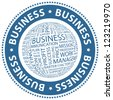 BUSINESS. Word collage. Vector stamp. - stock photo