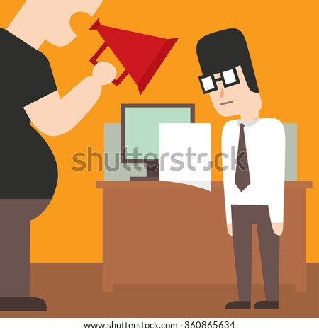 Business work time lag delay vector illusutration. Procrastination concept. People delay, time late, business situations cartoon vector. Time delay, time lag, bad worker, stree on work - stock vector