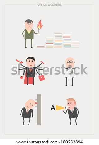 Business workers - stock vector