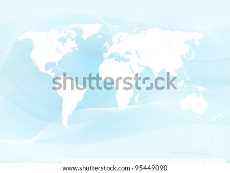 Business World Background - stock vector